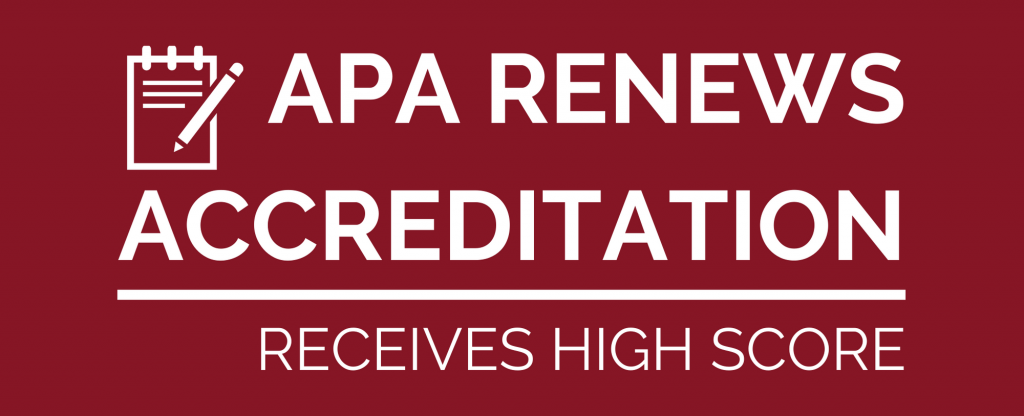 APA RENEWS ACCREDITATION